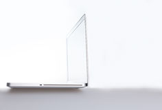 Laptop clean background with space for copy Royalty Free Stock Photography