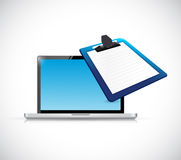Laptop clipboard illustration design Royalty Free Stock Photography