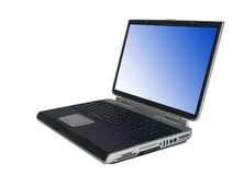 Laptop with clipping paths Stock Image
