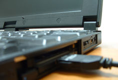 Laptop Close-Up. Opened Laptop Close-up royalty free stock photo