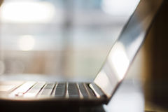 Laptop close up, shallow depth of field Royalty Free Stock Photo