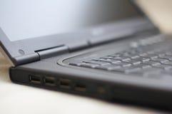 Laptop closeup. Closeup of a laptop computer and keyboard Stock Photography