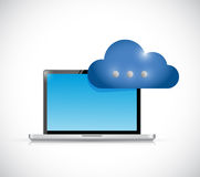 Laptop cloud communication concept illustration Royalty Free Stock Photo
