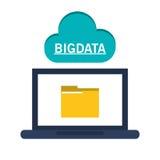 Laptop cloud computing and big data design Royalty Free Stock Photography
