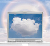 Laptop Cloud Computing Royalty Free Stock Photos