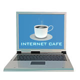 Laptop and Coffee cup vector illustration