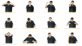 Laptop collection royalty free stock photography