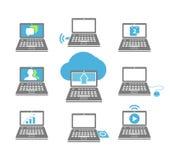 Laptop collection Stock Photos