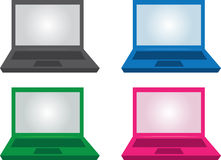 Laptop Colors Stock Photography