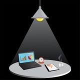 Laptop com arquivo de original, ilustração do vetor Imagens de Stock