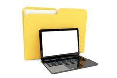 Laptop com dobrador ilustração royalty free