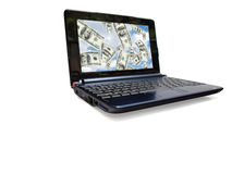 Laptop computer 09 d Royalty Free Stock Image
