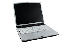 Laptop computer. Laptop or notebook computer and monitor.  White background Stock Image