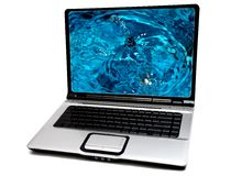 Laptop computer Stock Photo