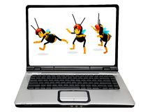Laptop computer royalty free stock photography