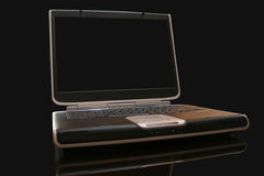 Laptop computer. Computer laptop on black background Royalty Free Stock Photography