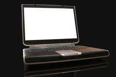 Laptop computer. Computer laptop on black background Stock Image