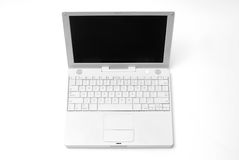 Laptop computer. A white laptop on a white background Stock Images