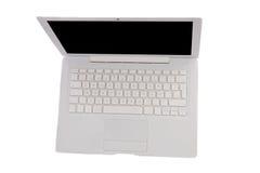 Laptop-Computer angesehen von oben lizenzfreie stockfotos