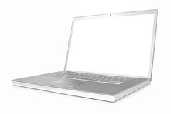 Laptop computer, angled view. Stock Photo