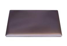 Laptop-Computer auf weißem Hintergrund Stockbilder