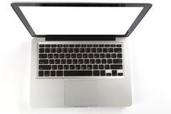 Laptop-Computer auf weißem Hintergrund Stockfotografie
