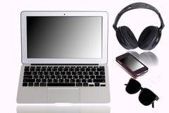 Laptop-Computer Büro noch lifeet Lizenzfreie Stockfotos