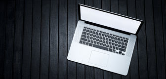 Laptop Computer Banner Background Stock Image