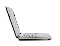 Laptop computer with blank black screen Stock Image