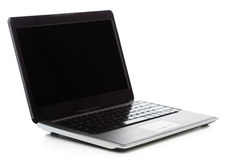 Laptop computer with blank black screen Royalty Free Stock Image