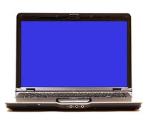 Laptop Computer with Blank Monitor. An open laptop computer with a blank monitor for customers text or images stock photography