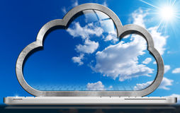 Laptop Computer - Cloud Computing Stock Photography