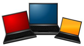 Laptop Computer Collage Royalty Free Stock Images