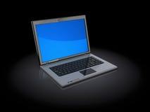 Laptop computer. 3d illustration of laptop computer over black background Stock Photo