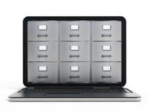 Laptop computer data storage concept Royalty Free Stock Photo