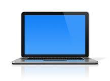 Laptop computer die op wit wordt geïsoleerd Stock Afbeelding