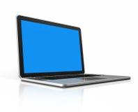 Laptop computer die op wit wordt geïsoleerd Stock Fotografie