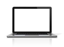 Laptop computer die op wit wordt geïsoleerdd Royalty-vrije Stock Afbeelding
