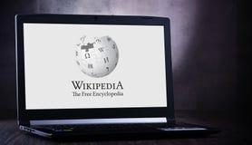 Free Laptop Computer Displaying Logo Of Wikipedia Stock Photos - 165448183