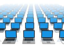 Laptop-Computer getrennt auf Weiß Lizenzfreies Stockfoto