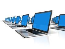 Laptop-Computer getrennt auf Weiß Stockfoto