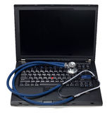 Laptop Computer Health Stock Images