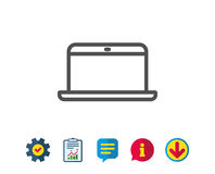 Laptop computer icon. Notebook sign. Stock Images