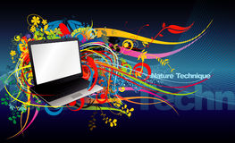 Laptop computer illustration Royalty Free Stock Image
