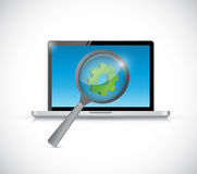 Laptop computer industry research concept i Royalty Free Stock Images