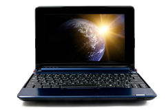 laptop computer, isolated Royalty Free Stock Image