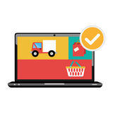 Laptop computer isolated icon Royalty Free Stock Photography