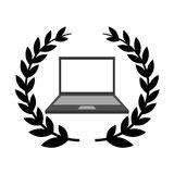 Laptop computer isolated icon Royalty Free Stock Image