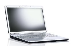 Laptop computer isolated on white Royalty Free Stock Images