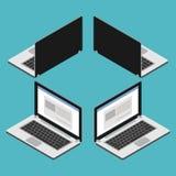 Laptop computer isometric. Vector flat Illustration, Laptop computer isometric royalty free illustration